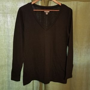 Old Navy black V-neck long sleeve t-shirt